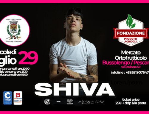 Il rapper Shiva in concerto mercoledì 29 luglio