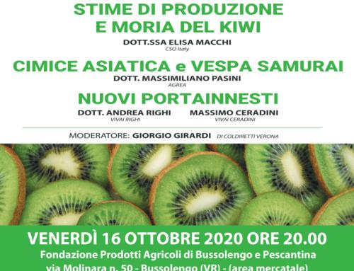 "VVVIII Convegno ""Actinidia"" venerdì 16 ottobre 2020 ore 20"